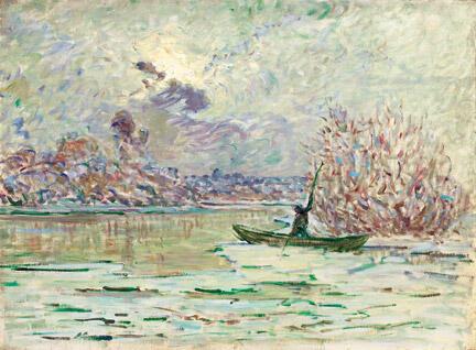 L'hiver près de Lavacourt. Claude MONET -1880