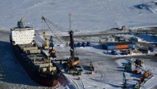 Ảnh minh họa : Hải cảng Sabetta ở bán đảo Yamal, lãnh thổ Nga tại Bắc Cực