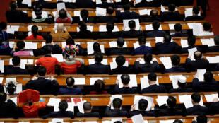 Đại biểu tham dự khóa họp Quốc Hội Trung Quốc tại Bắc Kinh ngày 13/03/2018.