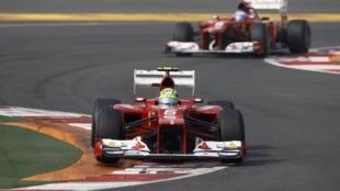 O brasileiro Felipe Massa durante treinos para o GP da Índia.