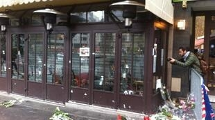 Bar-restaurante La Bonne Bière, alvejado a 13 de Novembro.