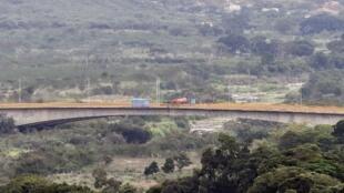 Le pont de Tienditas à la frontière entre Tachira au Venezuela et Cucuta en Colombie, le 11 février 2019.