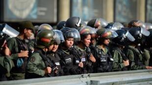Sojojin Venezuela a babban birnin Caracas