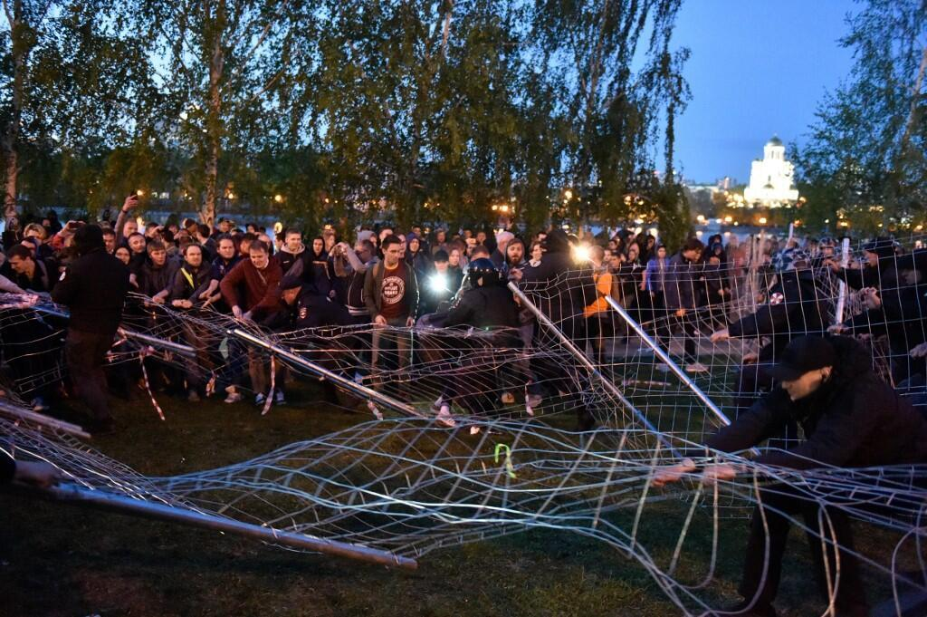 В Кремле добавили, что не вмешиваются в протесты против строительства храма