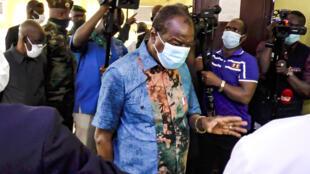 Alpha Condé s'est rendu au chevet des victimes des violences post-électorales mercredi 28 octobre à Conakry.