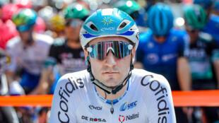 Elia Viviani lors du Tour Down Under en Australie en janvier 2020.