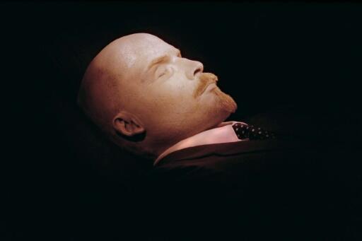 The embalmed body of Russian revolutionary leader Vladimir Lenin, photographed in 1991