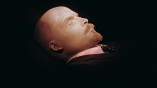 The embalmed body of Russian revolutionary leader Vladimir Lenin, photographed in 1991