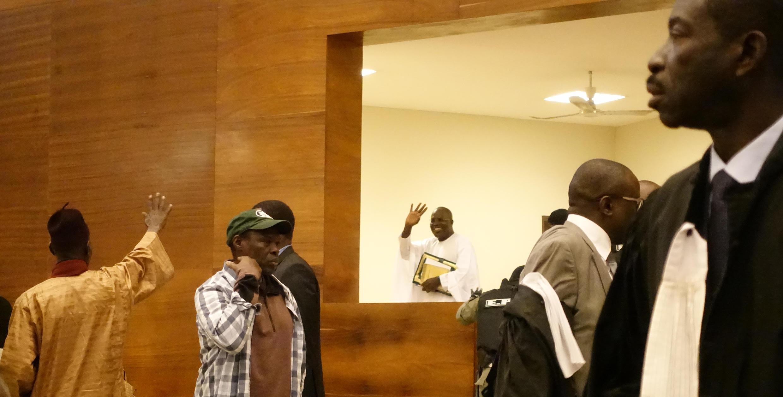 Khalifa Sall lors de son procès à Dakar au Sénégal.