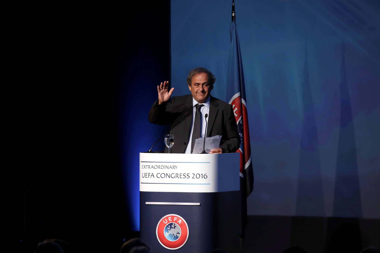 Последняя речь Мишеля Платини с трибуны президента УЕФА