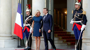 French President Emmanuel Macron and his wife Brigitte Macron.