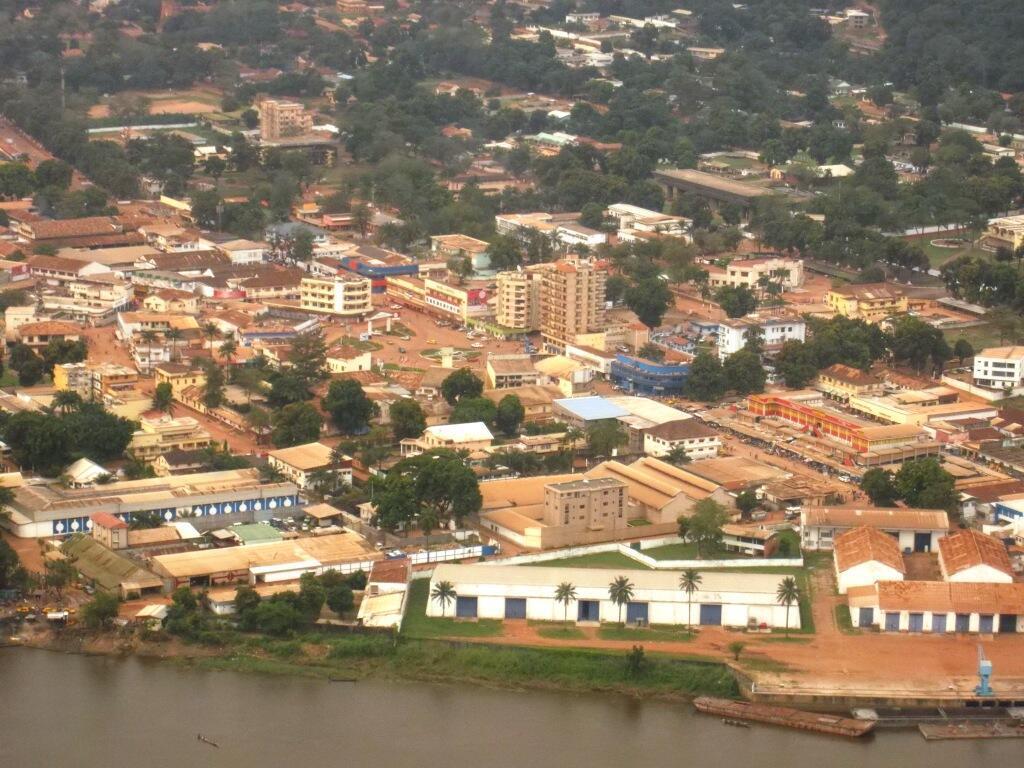 Vista aérea de Bangui.