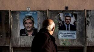 امانوئل ماکرون و مارین لوپن، دو نامزدی که به دور دوّم انتخابات ریاست جمهوری فرانسه راه یافتند