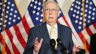 Le chef de la majorité au Sénat, Mitch McConnell, à Washington, le 9 septembre 2020.