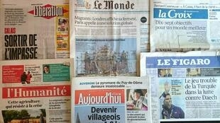 Diários franceses do 4 de Agosto de 2016.