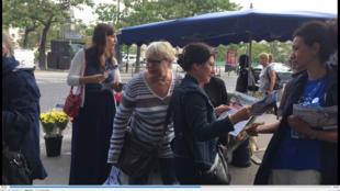 2017年6月16日,巴黎第13區街頭立法選舉宣傳活動