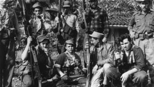 Des partisans de Castro, le 1er janvier 1961