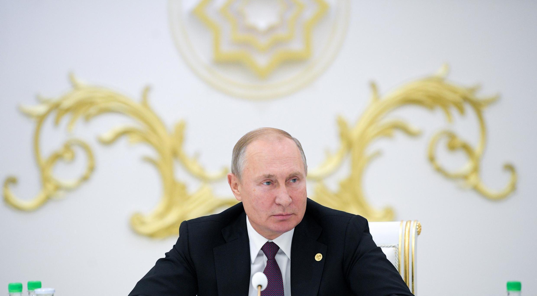 Tổng thống Nga Vladimir Putin tham dự cuộc họp của lãnh đạo khối Cộng Đồng các Quốc Gia Độc Lập CIS tại Ashgabat (Turkmenistan) ngày 11/10/2019.