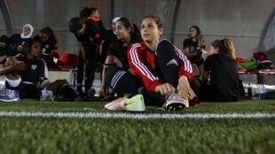 Les joueuses de la Jordanie au Mondial feminin U-17.