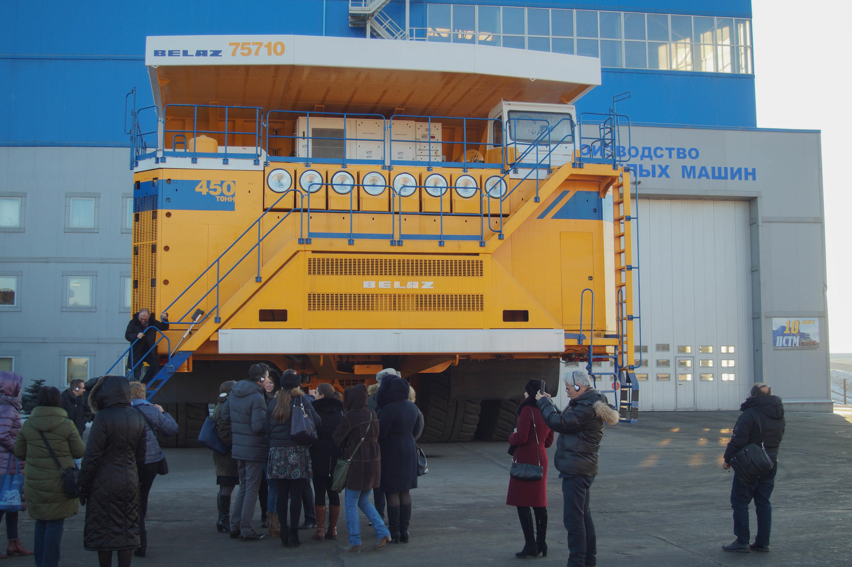 Французская делегация на заводе БелАЗ