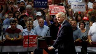 Le candidat républicain à l'élection présidentielle américaine, Donald Trump, le 22 août 2016 à Akron, dans l'Ohio.