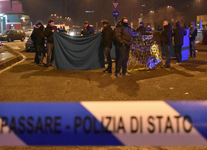 Hiện trường vụ bắn hạ Anis Amri tại Milano, ngày 23/12/2016.