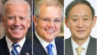 美日澳三國領導人資料圖片