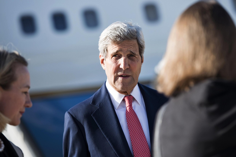 Госсекретарь США Джон Керри прибыл в Амман, 10 сентября 2014 г.