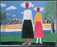 Kazimir Malevich 風景里的兩個人物 1931-32