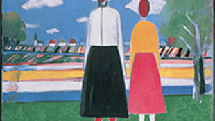 Kazimir Malevich 风景里的两个人物 1931-32