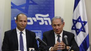 بنیامین نتانیاهو نخست وزیر و نفتالی بَنَت وزیر دفاع اسرائیل