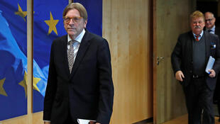 Belgian MEP Guy Verhofstadt, head of the Brexit Steering Group, which warned of a higher risk of a no-deal Brexit with Boris Johnson as Prime Minister of Britain