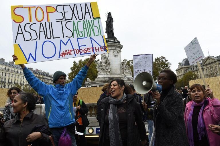 Manifestação #Metoo em Paris, em outubro de 2018.