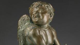 """Escultura de Donatello apresentada na mostra """"A Primavera do Renascimento"""", em cartaz no museu do Louvre, em Paris, até o dia 6 de janeiro."""
