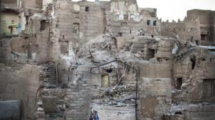 Au nord de Saada, Yémen, octobre 2017. La région de Rahban a été lourdement touchée par les bombardements aériens de la coalition menée par l'Arabie saoudite.