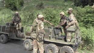 在中非共和國執勤的南非士兵。