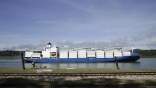 Transport de marchandises sur le canal du Panama, en juin 2020.