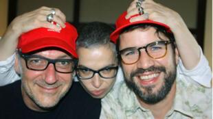 Laurent Saulnier, Laurence Aloir et Will Holland.