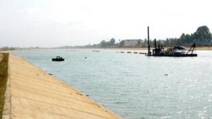 Une vue du quatrième lac de Lomé au Togo.