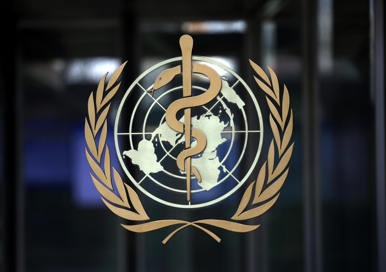 The World Health Organization (WHO) logo at headquarters in Geneva, Switzerland, 30 January 2020.