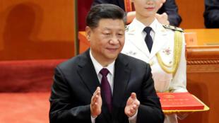 Chủ tịch Trung Quốc Tập Cận Bình tại lễ kỷ niệm 40 năm cải cách và mở cửa của Trung Quốc, Bắc Kinh, 18/12/2018.