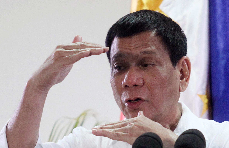 菲律賓總統杜特爾特(資料圖片)