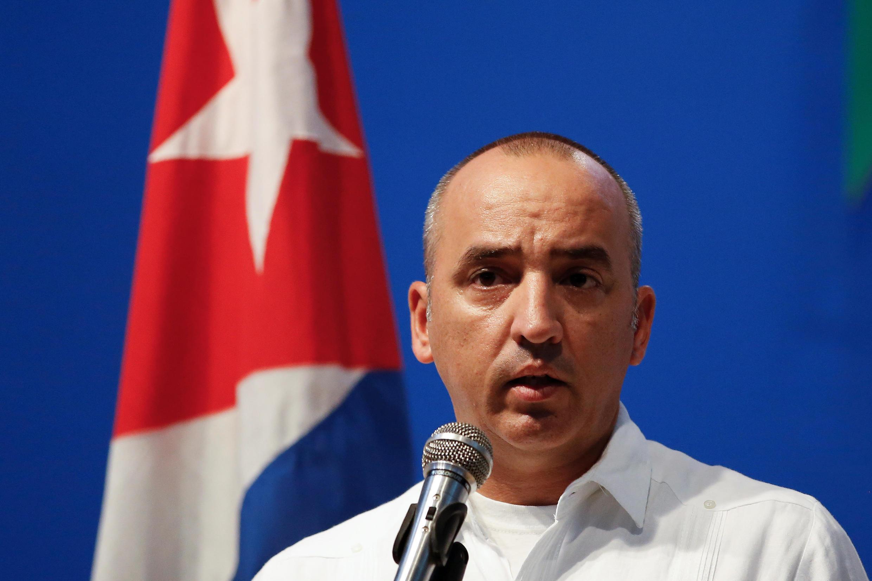 Ông Ernesto Soberon, đặc trách cộng đồng Cuba ở nước ngoài trong bộ Ngoại giao Cuba, phát biểu với báo chí ngày 03/08/2018.