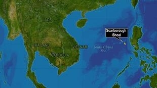 南海及黃岩島海域圖