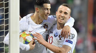 Cristiano Ronaldo celebra golo frente ao Luxemburgo