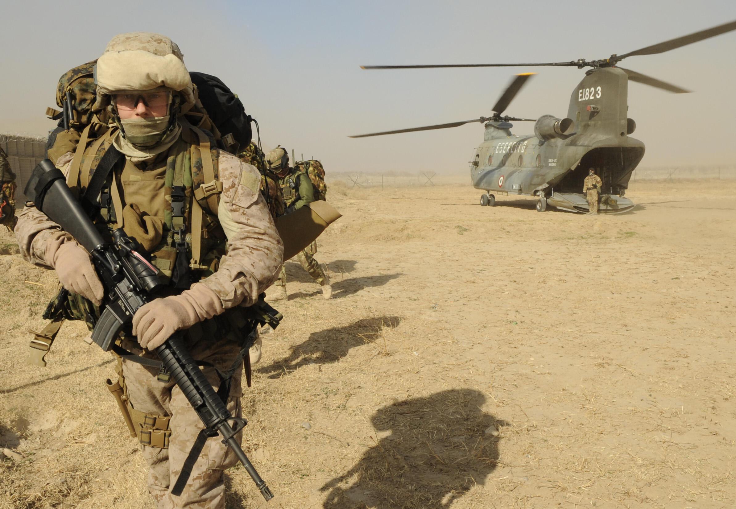 Soldado estadounidense en Afganistán.