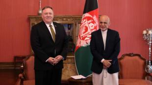 اشرف غنی و مایک پمپئو در کابل