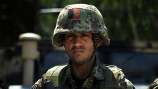 An Afghan soldier in Kunar