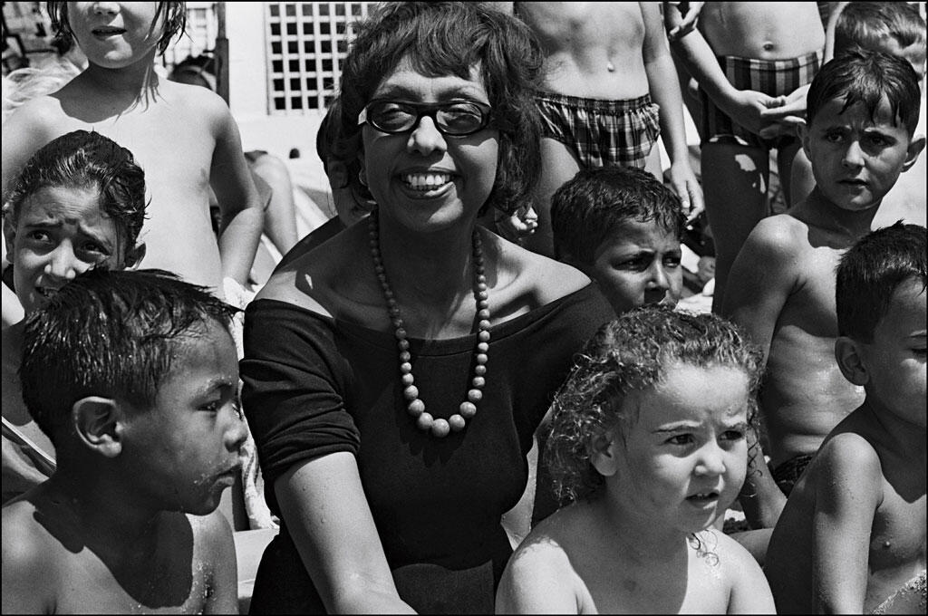 Joséphine Baker and her children on holiday in France on 25 August, 1964.