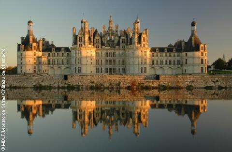 O castelo de Chambord, no vale do Loire.